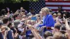 Hillary Clinton hält ihre erste grosse Wahlkampfrede in New York.