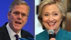 Eine der beiden Personen wird möglicherweise ins Weisse Haus einziehen. Jeb Bush (links) und Hillary Clinton.