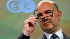 Wirtschafts- und Währungskommissar Pierre Moscovici gibt in Brüssel, am Sitz der EU-Kommission eine Pressekonferenz.