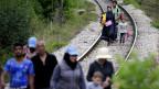 Zehntausende  Migranten aus dem Nahen Osten und Afrika gelangen illegal auf dem Landweg  über den Balkan nach Europa.