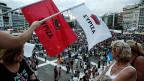 Syriza-Demonstration am 21. Juni vor dem griechischen Parlament in Athen.