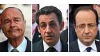 Die drei abgehörten Präsidenten: Jacques Chirac, Nicolas Sarkozy und François Hollande.