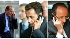 Die drei französischen Präsidenten Jacques Chirac, Nicolas Sarkozy und François Hollande. Frankreich ist empört über die Schnüffelei der USA - und plant ein Gesetz, das genau solches erlauben soll.