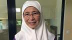 Wan Azizah, die Frau des malaysischen Oppositionsführer Anwar Ibrahim.