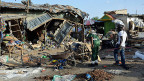 Der Markt von Maiduguri nach dem Anschlag, bei dem am 22. Juni zwei junge Frauen ein Selbstmordattentat begangen hatten.