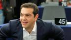 Premier Tsipras vor seinem Auftritt vor dem Europaparlament in Strassburg. Die Reaktionen auf seine Rede waren teilweise harsch.