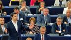 Alexis Tsipras im Europaparlament in Strassburg. Manche der Abgeordneten haben kein Blatt vor den Mund genommen.
