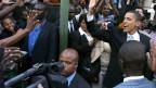 Kenia steht Kopf für die Heimkehr des Sohnes: US Präsident Barak Obama in Nairobi.