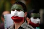 Protestierender Iraner in LA