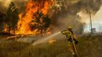 Feuerbekämpfung in Lake County. Die Schichten der Feuerwehrleute dauern 24 Stunden.