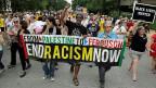 «End Racism Now» - nicht nur in Ferguson, auch in St. Louis wurde am vergangenen Wochenende gegen Gewalt und Rassismus demonstriert.