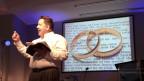 Pfarrer Larry Robertson sieht die Home-Ehe als Ankündigung der Endzeit, wie sie die Bibel prophezeit. Gottesdienst der Baptisten der Hillsdale Church in Clarksville, Tennessee, am 28. Juni 2015.