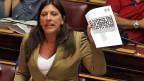 Zoi Kanstontopoulou, Präsidentin im griechischen Parlament, hat ihre eigenen Regeln.