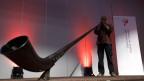 Ein Stück Heimat: Alphornklänge zur Eröffnung des Auslandschweizer-Kongresss in Genf.