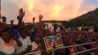 Sri Lankas Ex-Präsident Rajapaksa beim Wahlkampf für die Parlamentswahlen