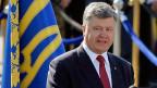 Petro Poroschenko hält in der Hauptstadt Kiew eine Rede zum ukrainischen Unabhängigkeitstag.