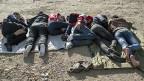 «Wir wollen in Deutschland oder Schweden eine Zukunft finden, die Sprache lernen, eine Arbeit finden, nutzbringend sein. Wir sind qualifizierte Berufsleute und wollen nicht von Sozialhilfe abhängig werden», sagt ein Ingenieur aus Syrien. Bild: Flüchtlinge ruhe sich unter einer Brücke in der Nähe des Belgrader Busbahnhofs aus.