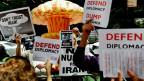 Iranische Dissidenten kritisieren das Atomabkommen zwischen dem Westen und Iran.