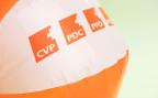 Ein Wasserball als Wahlkampf-Werbeträger für die CVP