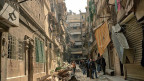 Ein Land im Untergang: Eine Strasse in Aleppo. Fast vier Millionen Menschen sind seit Kriegsbeginn aus dem Land geflohen, weit über sieben Millionen sind innerhalb des Landes geflohen oder vertreiben worden.
