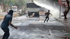 Zusammenstösse zwischen kurdischen Aktivisten und Sicherheitskräfte in Diyarbakir.