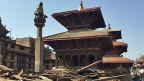 Der Patan-Durbar-Platz in Nepals Hauptstadt Kathmandu gehört zum Unesco-Weltkulturerbe und wurde während des Erdbebens stark beschädigt.