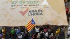 Die Sehnsucht nach einem eigenen Staat. Katalanen bei einer Demonstration in Barcelona.