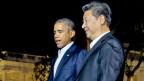 Chinas Staats- und Parteichef Xi Jinping wird von US-Präsident Barack Obama empfangen.