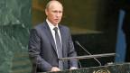 Die Ukraine-Krise hat Russland nicht gut getan. Vom Westen mit Sanktionen belegt, ist das Land in eine tiefe Wirtschaftskrise gerutscht. Im Kreml ist deshalb offenbar die Einsicht gereift, dass sich etwas ändern muss. Bild: Wladimir Putin während seiner Rede an der Uno-Generaldebatte in New York.