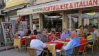 Der portugiesischen Tourismusbranche geht es verhältnismässig gut. Restaurant in Lissabon, Portugal, am 23. September 2015.
