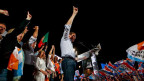 Wahlkampf-Auftritt der Kandidaten der Mitte-Rechts-Koalition in Lissabon.