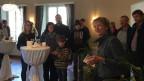 Eveline Widmer-Schlumpf macht Wahlkampf für die BDP in Ilanz (GB).