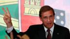 Portugal zeigt sich nach den Wahlen gespalten. Premierminister Pedro Passos Coelho nach den Wahlen in Lissabon am 4. Oktober 2015.