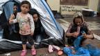 Afghanische Flüchtlinge in Athen.