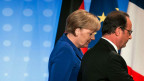 Die deutsche Bundeskanzlerin Angela Merkel und ihr französischer Amtskollege François Hollande.
