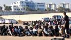 Flüchtlinge in Tripolis, Libyen.