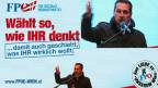 Heinz-Christian Strache, der Führer der FPÖ, geisselt die herrschende Politik, die Menschen in die Armut treibe.