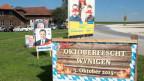 Wahlkampf-Stimmung oder Oktoberfest? Ein Wahlkampf fast ohne Inhalt.