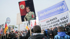 Pegida zeigt ihr aggressives Gesicht. Demonstration in Dresden am 19. Oktober 2015.