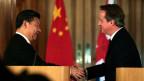 Chinas Präsident Xi Jinping und Grossbritanniens Premier David Cameron in der 10 Downing Street am 21. Oktober 2015.