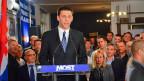 Bozo Petrov, der Chef der Partei MOST, die an der kroatischen Parlamentswahl vom Sonntag überrschend gut abgeschnitten hat.