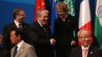 Finanzministerin Eveline Widmer-Schlumpf (2-R) vertrat die Schweiz am G20 in Moskau, Russland, im Jahr 2013.