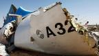 Es war eine Bombe, die den russischen Ferienheimkehrern Ende Oktober über der Sinai-Halbinsel den Tod gebracht hat, sagt der russische Geheimdienst.