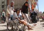 Verwundete verlangen das Ende der Blockade von Taiz