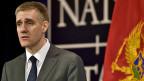Der montenegrinische Aussenminister Igor Luksic am Nato-Aussenministertreffen in Brüssel.