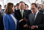 Royal, Ban Ki Moon und Hollande in Paris
