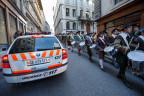 Polizeipatrouille an der Fête de l'Escalade in Genf