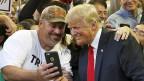 Donald Trump sagt, was man unter der Verfassung der USA eigentlich nicht sagen darf – und kommt damit gut an. Bild: Veranstaltung in Manassas im US-Bundesstaat Virginia.