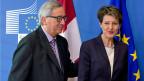 In Brüssel hat es heute keine Weihnachtsgeschenke für die Schweiz gegeben. EU-Kommissionspräsident Jean-Claude Juncker und Bundespräsidentin Simonetta Sommaruga.