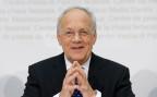 der neue Bundespräsident Johann Schneider Ammann bei einer Medienkonferenz